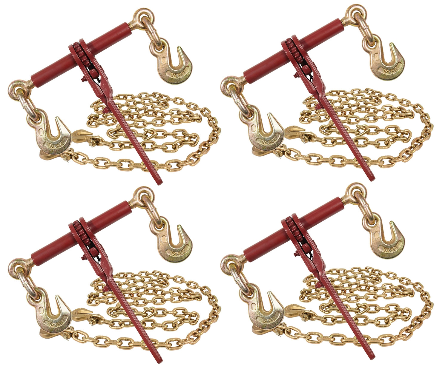 """3/8 Tow Chain Ratchet Binder EXtreme (4) And 3/8"""" X 12"""