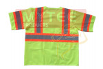 Safety Vest Class 3 Fluorescent Yellow w/ Orange Trim & Silver Tape