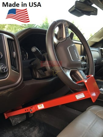 """Wheel to Pedal Lock - Adjusts from 28"""" - 33"""" From Wheel to Brake Pedal"""