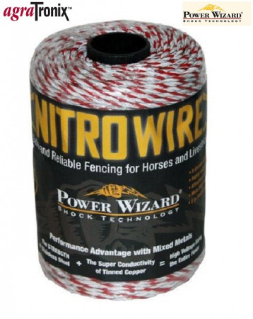 Nitro Wire 1/8 Inch 9-Strand with Red Tracer 656 Ft
