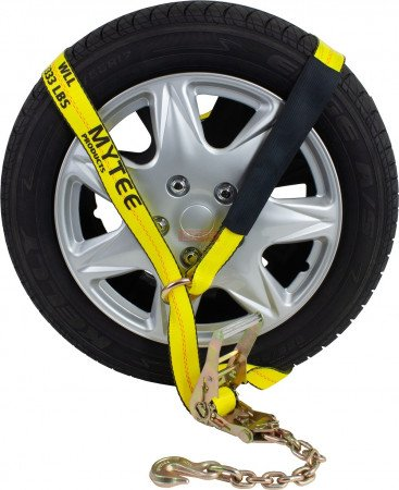 """2""""x12' Side Mount Wheel Net w/ Ratchet and Chain Anchor"""