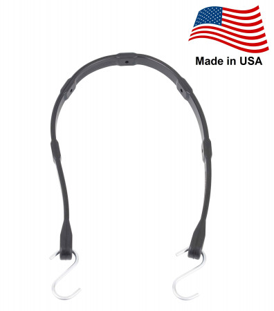 """30"""" EPDM Adjustable Tarp Bungee Straps -50 Pack, Made in USA"""