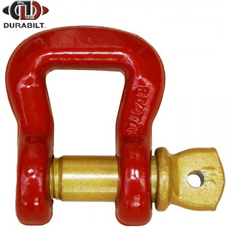 Web Shackle Made with Forged Alloy Steel & Alloy Screw Pin 12.5T WLL