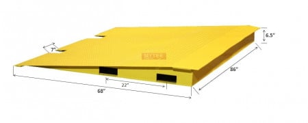 """HD Steel Container Ramps 68"""" x 86"""", 14,000 Lbs Capacity"""