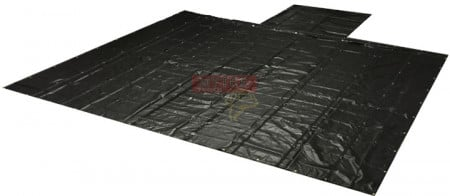 Heavy Duty 18oz Lumber Tarp 24x27 (8' Drop w/ Stainless Steel D-Rings) - Black