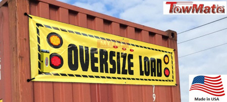 """Oversize Load Banner, Wirelessly Lit 96"""" Wide (Towmate)"""