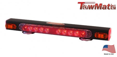 Towlight with turn signal indicators, 21 inch and carbon finish