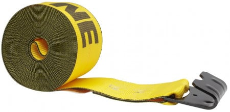"4"" x 40' Winch Strap with Flat Hook - Kinedyne, Gold"