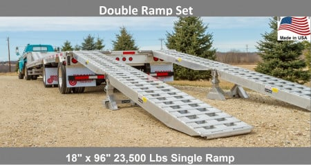 Trailer Loading Ramp Set - Double 16' x 18""