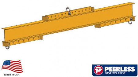 Universal Lifting / Spreader Beam  2 Ton Capacity,  10 Ft Maxium Spread