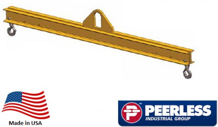 Standard Duty Lifting Beam 1 Ton Capacity, 6 Ft Outside Spread