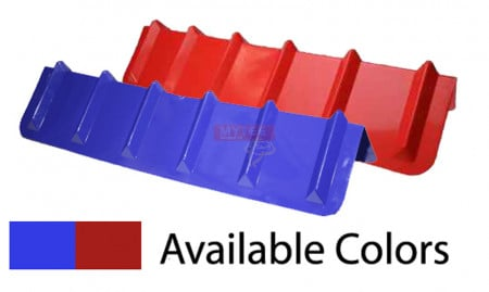 "Corner Protector V Shaped - 8"" x 36"" (Red or Blue)"