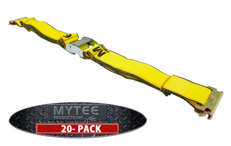 """(20 Pack) E Track Cam Buckle Straps 2"""" x 12'"""