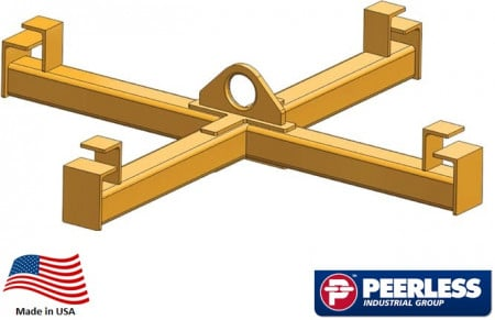 """Four Point Sack Lifter Beam,  2 Ton Capacity, 36"""" Outside Spread"""