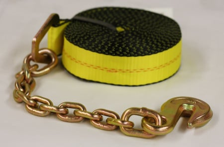2 in. x 30 ft. Winch Strap with Chain Anchor
