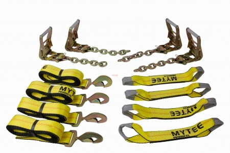 8 Point Roll Back Tie Down System w/ Snap Hooks Kit