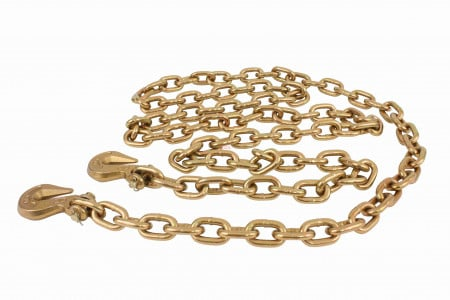 """3/8"""" X 6' G70 Chain with Grab Hooks, WLL 6,600 lbs"""