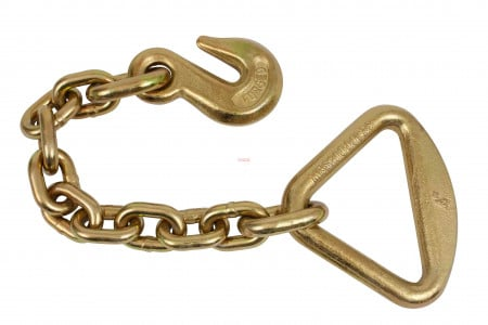 """3/8"""" Grab Hook w/ 18"""" Chain Anchor 4"""" Delta Ring"""