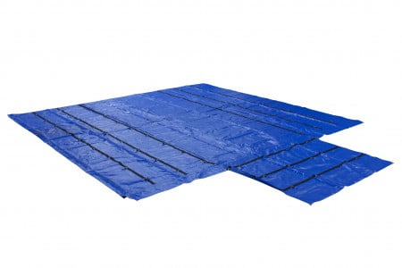 Lightweight 18oz/14oz Lumber Tarp 24x27 (8' Drop) - Blue