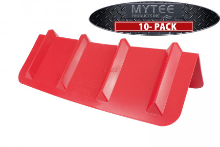 (10 Pack) Corner Protector V Shaped Plastic Edge Guard Style - 24 Inches Red