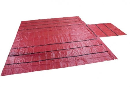 Heavy Duty 18oz Lumber Tarp 24x27 (8' Drop) - Red