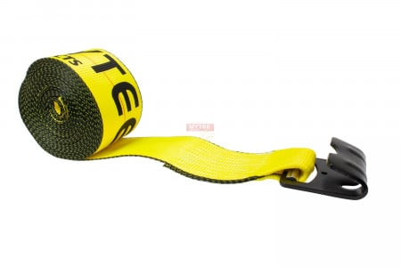 3 in. x 30 ft. Winch Strap with Flat Hook