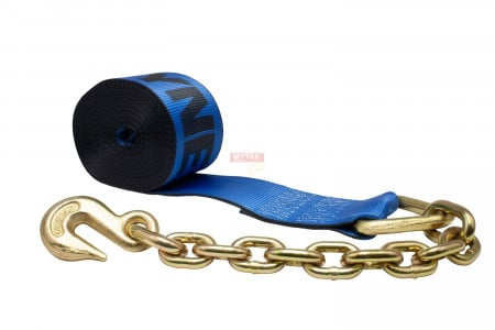Kinedyne 4 in. x 30 ft. Winch Strap with Chain Anchor