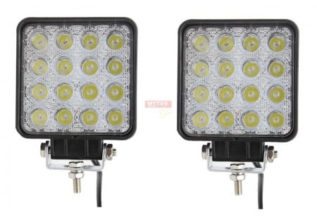 48W LED Work Light 3520 LUMENS Spot (Sold as a Pair of 2 Lights)