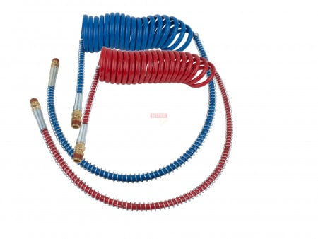 """Air Brake, Coiled Assembly -15Ft w/ 40"""" Pigtails"""