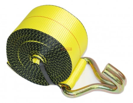 """3"""" x 30' Winch Strap with Wire Hook"""