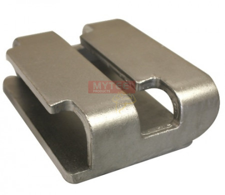 Double L Track Plate Flat Hook Receiver (Chromate Finish)