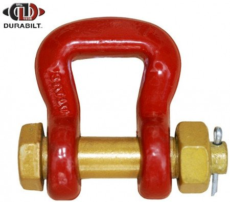 Web Shackle Made with Forged Alloy Steel & Alloy Bolt 12.5T WLL