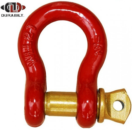 Anchor or Bow Type Shackle Made with Forged Carbon Steel & Alloy Screw Pin 6.5T WLL