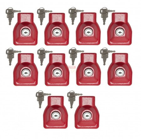 (10 Pack) Heavy Duty Aluminum Air Brake Glad Hand Lock For Tractor Trailer