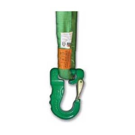 Round Sling Hook, Green, 5300 lbs WLL